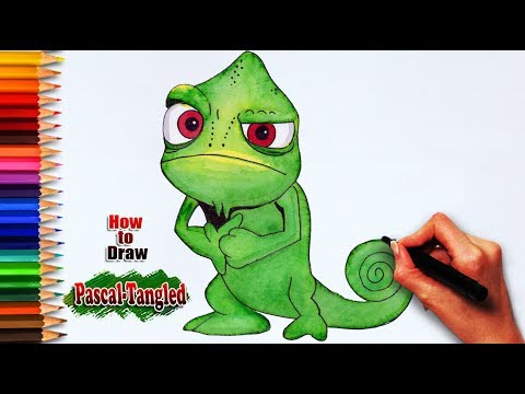 How To Draw Pascal Tangled Easy Drawing Tutorials Learning For Arts Youtube