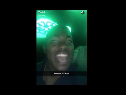 Yasiel Puig partying on Snapchat