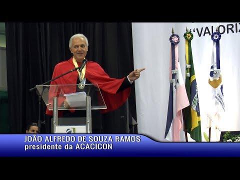 Pronunciamento do pres  da ACACICON   João Alfredo de Souza Ramos