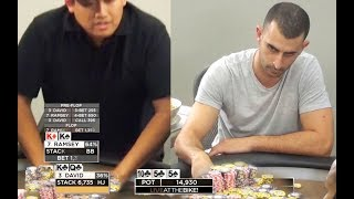 Over $15,000 on the line David Chan and Ramsey battle it out! ♠ Live at the Bike!