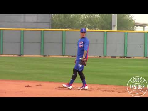Javy Baez & Kris Bryant Practice Fielding - 2/16/18