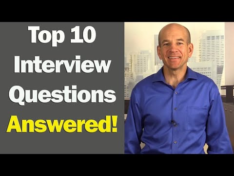 Top 10 Job Interview Questions & Answers (for 1st & 2nd Inte