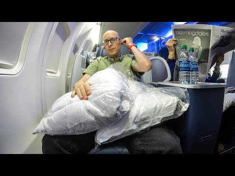 Delta One JFK-SAN (and those obnoxiously large pillows)