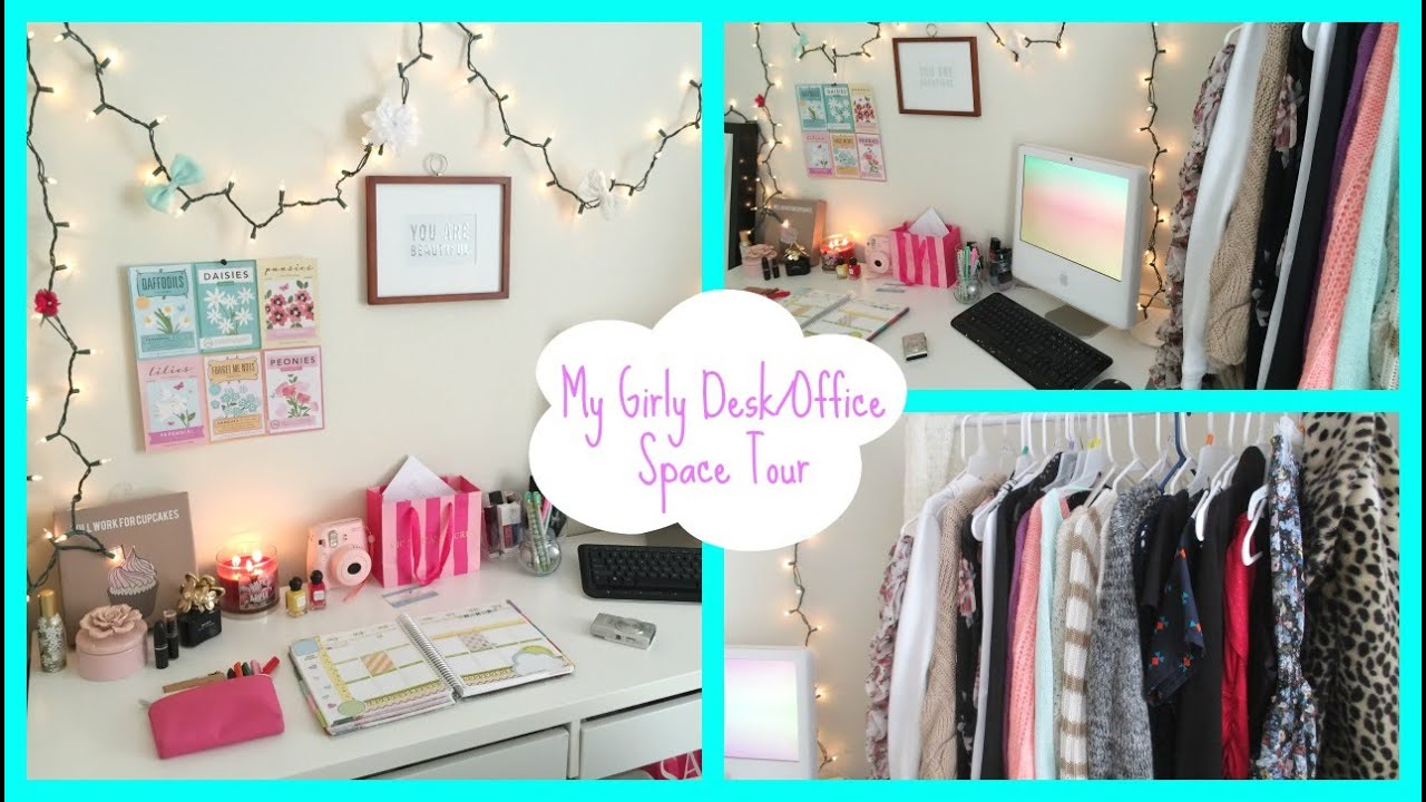 Tumblr Inspired Desk Office Space Tour YouTube