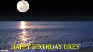 Grey  Moon La Luna - Happy Birthday