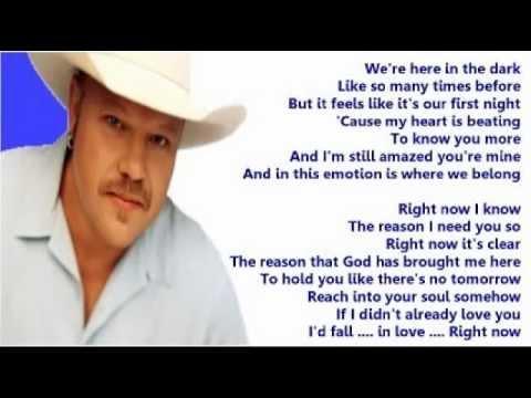 Chad Brock - Right Now (+ lyrics 2001)