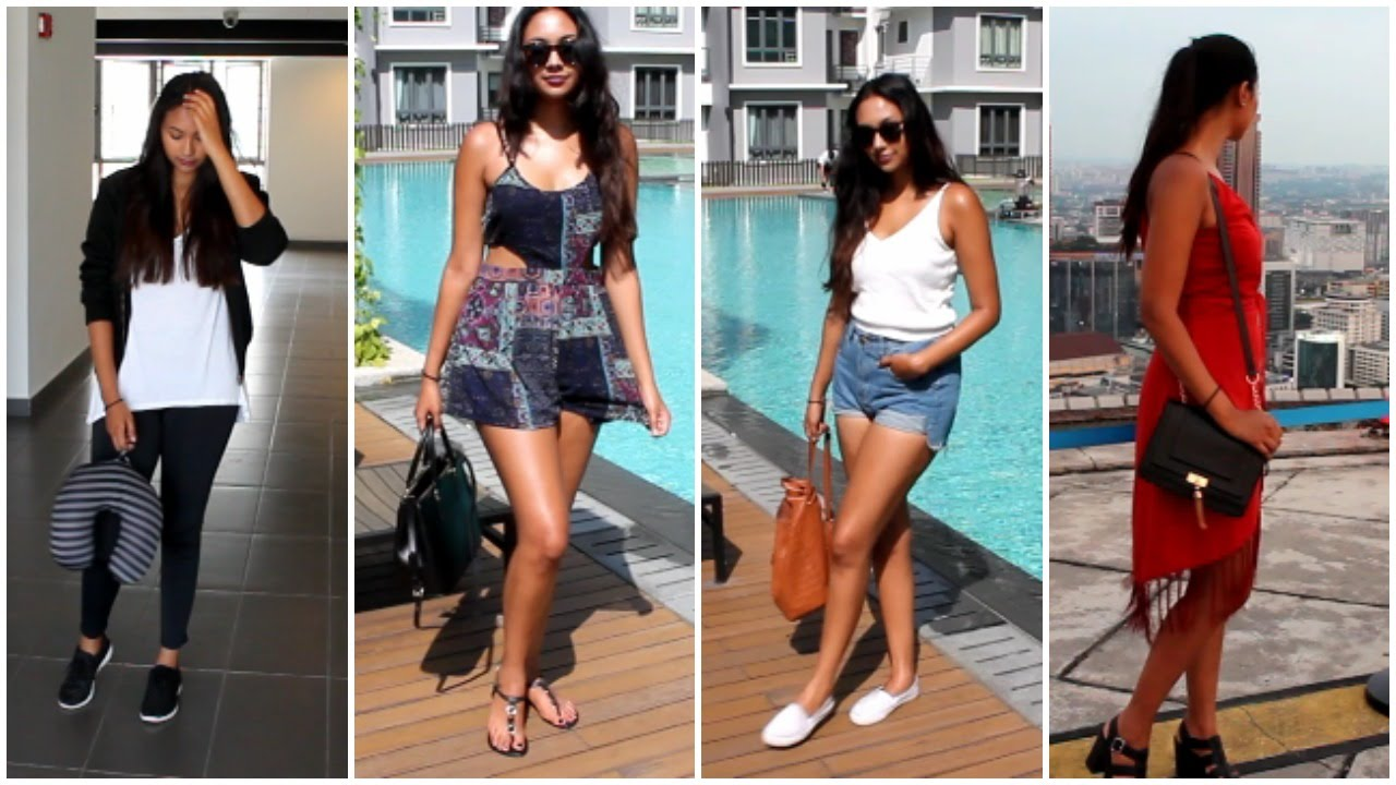 Vacation Outfit Ideas Summer Holiday Lookbook Youtube