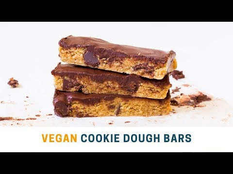 Peanut Butter Cookie Dough Bars | Vegan, No-Bake