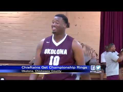 Okolona basketball team receives championship rings
