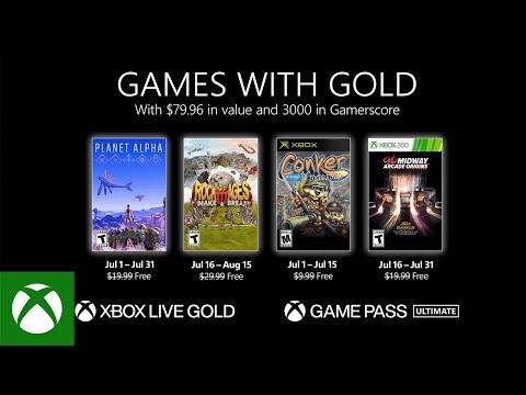 Список бесплатных игр по программе Games With Gold в июле