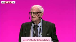 91-year-old war veteran Harry Smith at the Labour Party Conference