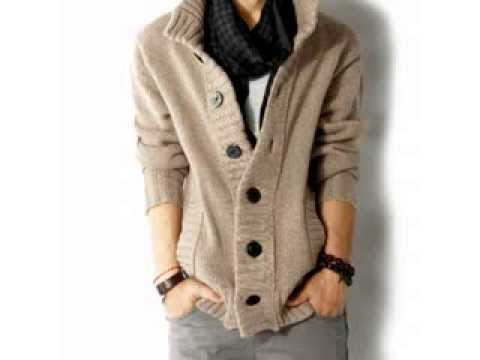 Cable Knit Cardigan Sweater Men - YouTube