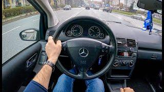 2004 Mercedes A Class W169 (1.7 116 HP) | 0-100 | POV Test Drive #767 Joe Black