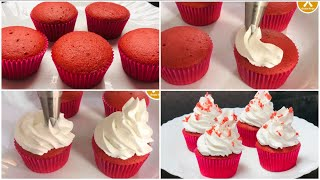 Easy Red Velvet Cupcake Recipe  Red Velvet Cake Without Oven  Anisha Recipe