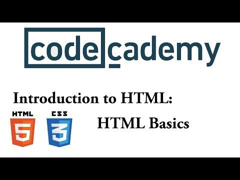 HTML & CSS: HTML Basics