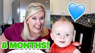 👶🏼EIGHT MONTH BABY UPDATE!💙 First words & Baby Led Weaning Update