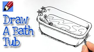 How to draw a Bath Tub Real Easy