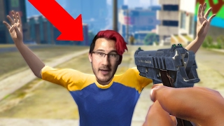ROBBING MARKIPLIER?! *CRAZY!* | GTA 5 Role Play Life