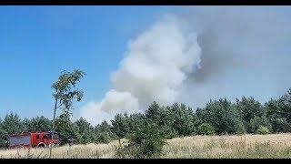 Pożar lasu Pisz 20 czerwiec 2018
