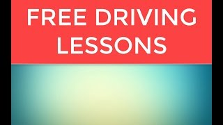 Free Driving Lessons Call 204-509-4175