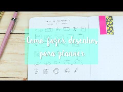 Como Fazer Desenhos Para Planner E Bullet Journal Youtube