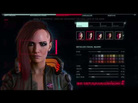 Cyberpunk 2077 - Анализ геймплея, часть 1 - Редактор Персонажа