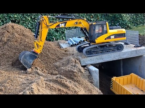 BRUDER RC Conversion EXCAVATOR LOADERs and TRUCKS 1/4 new Tunnel Project
