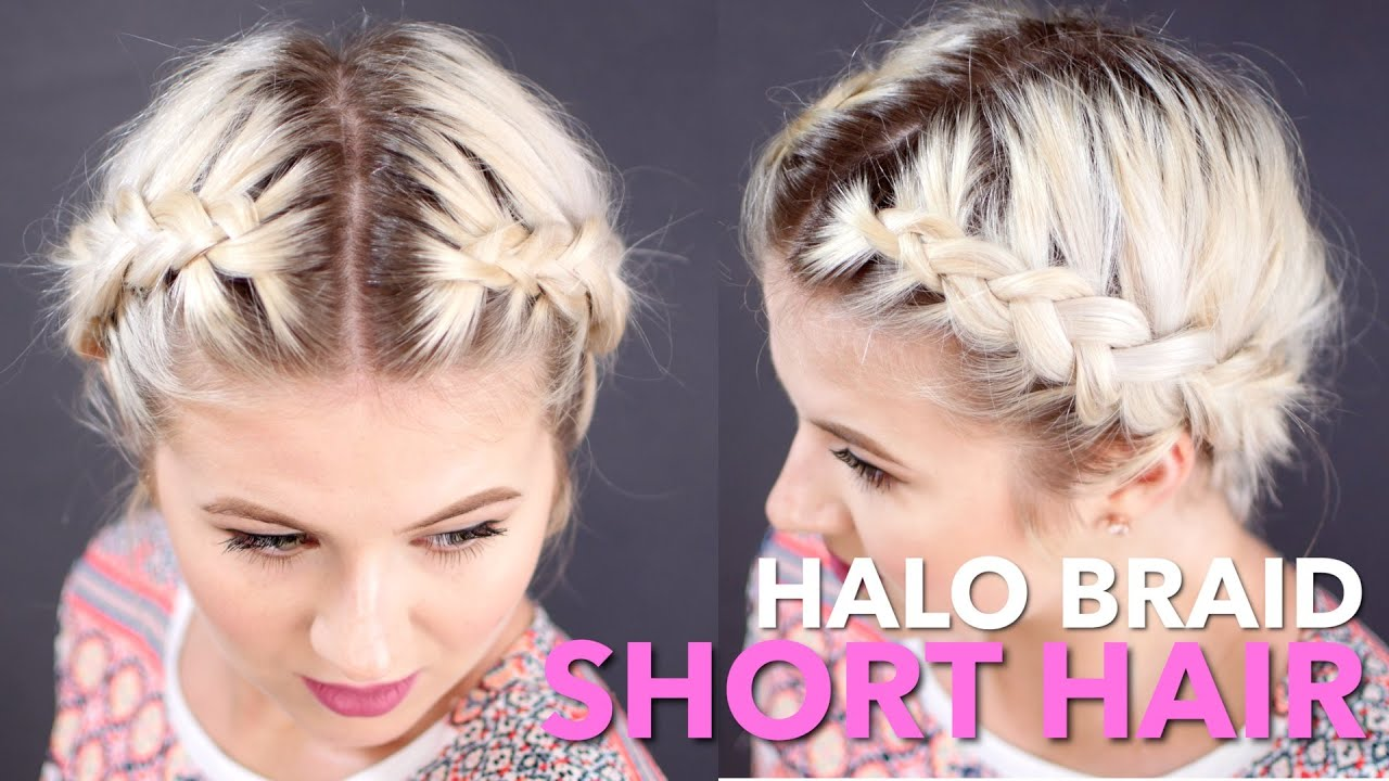 cute braiding styles for short hair how to milkmaid braid hair milabu 1194 | maxresdefault
