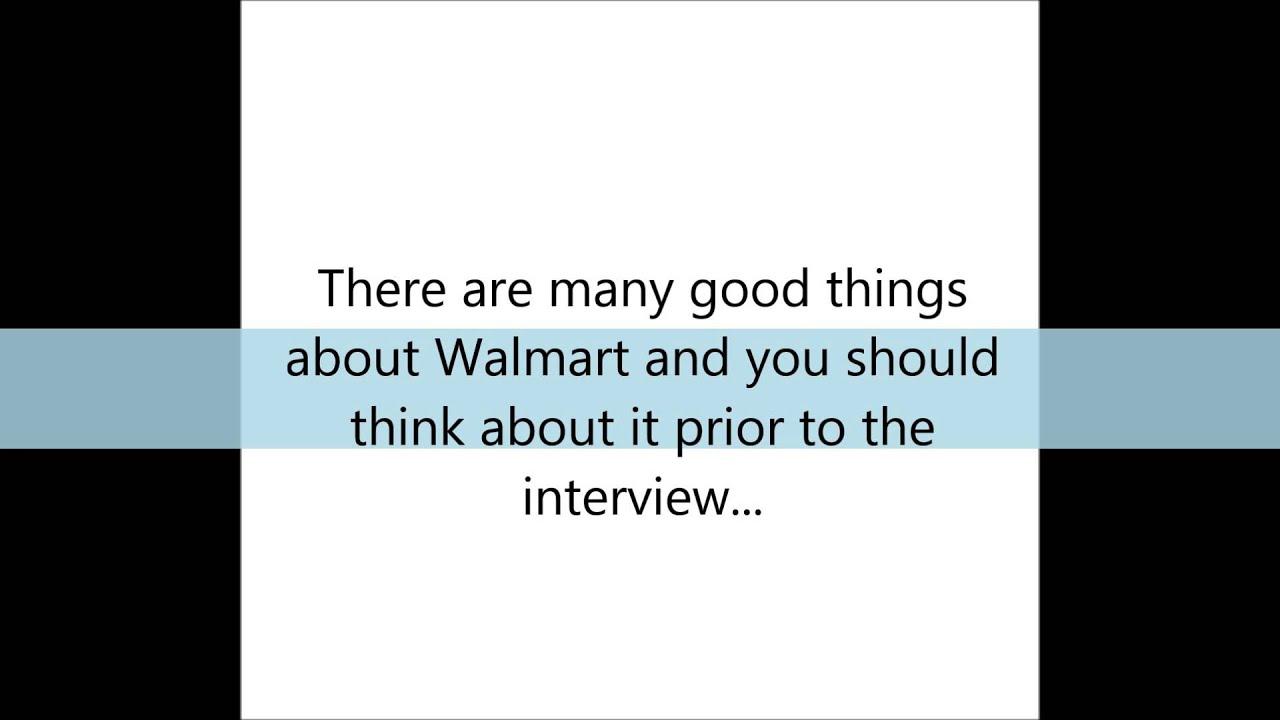 Walmart Interview Tips Youtube