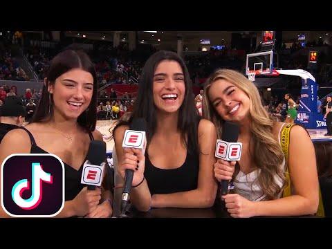 Charli D'Amelio, Addison Rae, & Dixie D'Amelio - NBA 2020 All-Star Celebrity Game Interview