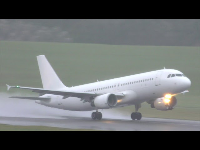 Spotting at Birmingham Airport in the pouring rain! Love it!