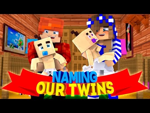 NAMING OUR TWINS!! w/Little Carly and Little Leo (Minecraft Custom Roleplay)