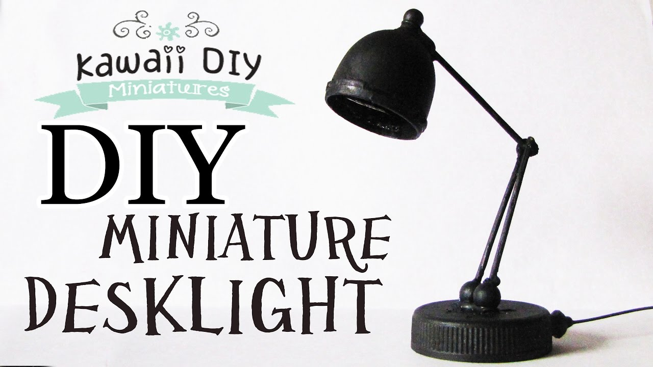 How To Make A Miniature Desk Lamp Dollhouse Diy