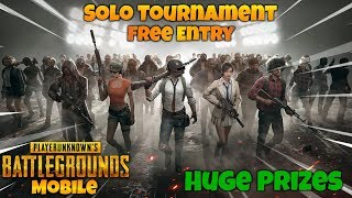 🔴Solo Tournament At 3 PM | Custom Rooms 🔥| PUBG Mobile Live Stream India |Hindi|
