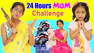 24 Hours LIVING Like MOM Challenge ft. Anaya & Shruti | MyMissAnand