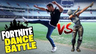 FORTNITE DANCE BATTLE CHALLENGE!! AFL Players Boogie Down...