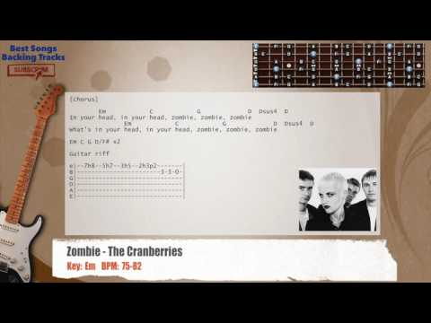 Zombie - The Cranberries Guitar Backing Track with chords and lyrics
