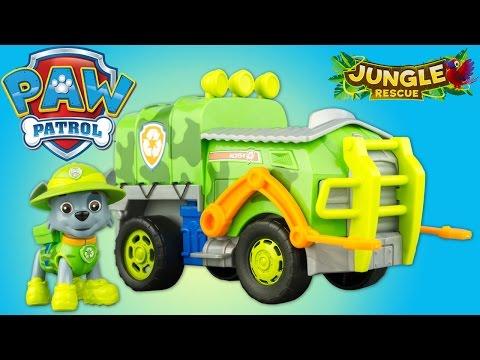 Pat Patrouille Jungle Rescue Rocky Camion Paw Patrol Jouet Toy Review Patrulla de Cachorros