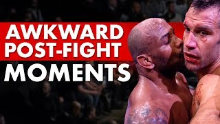 Most Awkward Post-Fight Moments