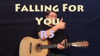 falling for you r5 easy guitar lesson how to play tutorial