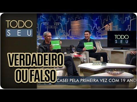 Verdadeiro Ou Falso Com Igor Guimarães E Márcio Américo - Todo Seu (19/09/17)