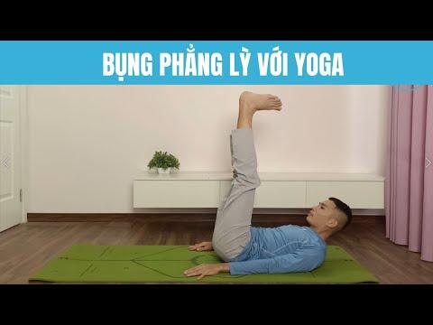 🔴 Bụng Phẳng Lì với 5 động tác Yoga đơn giản   Nam Hà