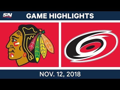 NHL Highlights | Blackhawks vs. Hurricanes – Nov. 12, 2018