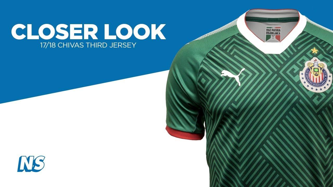 newest 3f3f1 e8568 Closer Look: Puma 17/18 Chivas Third Soccer Jersey