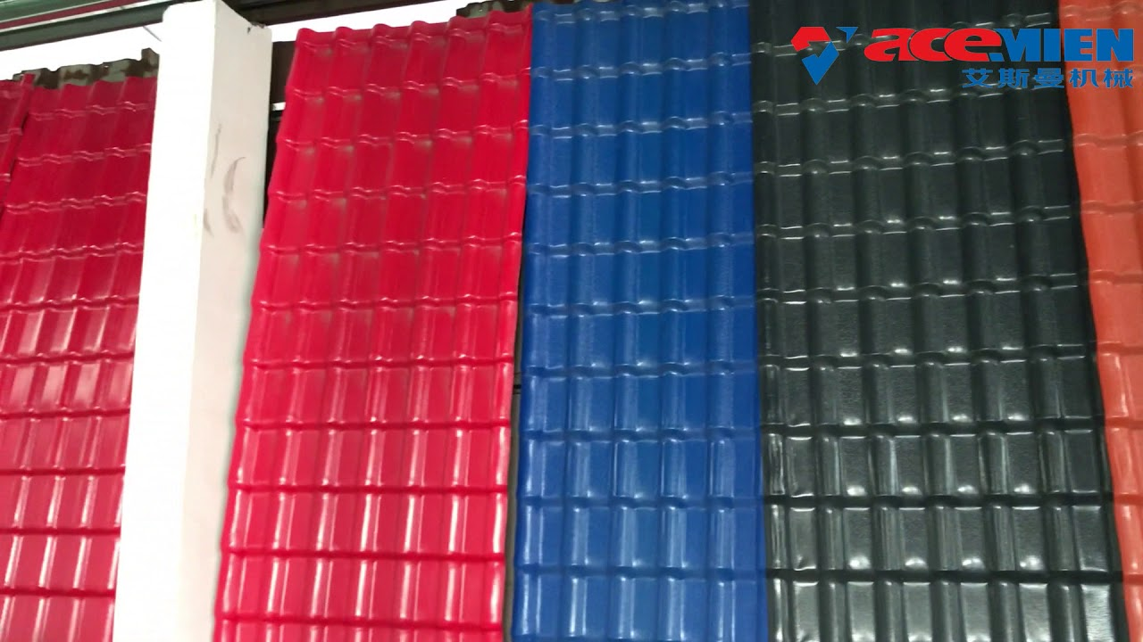 Plastic PCPVC Corrugated Roofing Tile Sheet Making Machine ...
