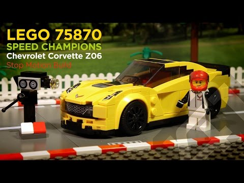 LEGO Speed Champions 75870 - Corvette Z06 (2016) - Stop Motion Build