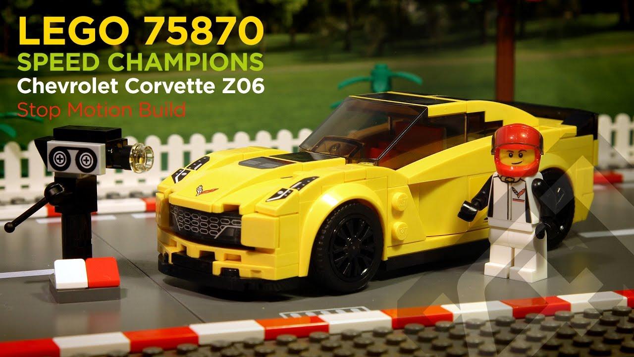 Lego Sd Champions 75870 Corvette Z06 2016 Stop Motion Build You