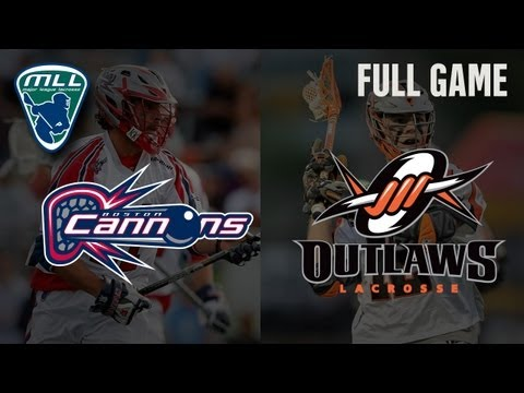 MLL's Youtube Game of the week: Boston Cannons at Denver Outlaws