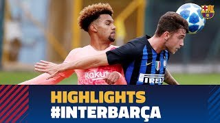 [HIGHLIGHTS] YOUTH LEAGUE: Inter Milan 0-2 FC Barcelona