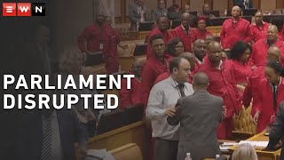 EFF leader Julius Malema was in Parliament on 17 September 2019 to debate insourcing of all government employees. The debate ended in a scuffle between members of the EFF and the DA.